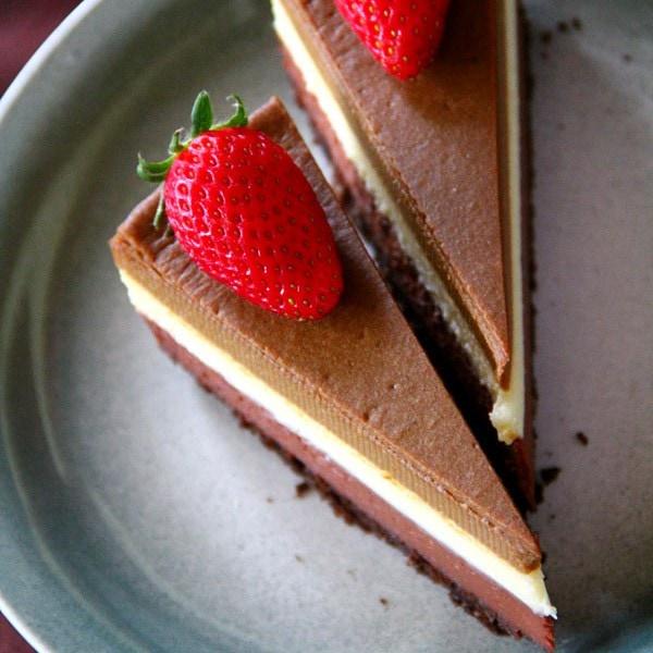 Triple Layer Cheesecake