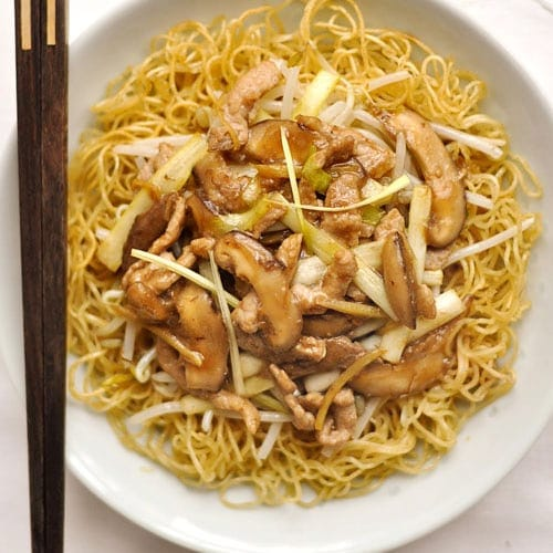 """The key to making great Xiamen Fried Vermicelli lies in the wok hei, which translates literally to """"The Breath of Wok."""" To get the wok hei, your wok has to be super-hot. It's this high heat that gives your fried vermicelli that special taste and aroma! 
