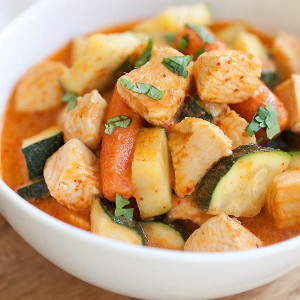 zucchini and chicken curry