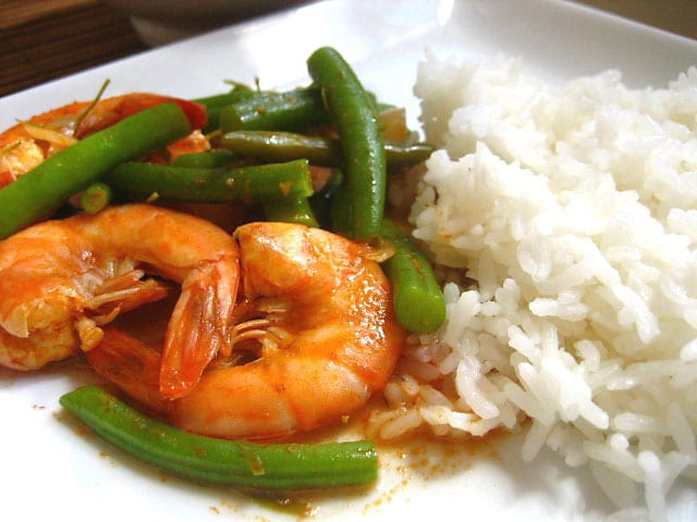 Shrimp and Green Beans Curry