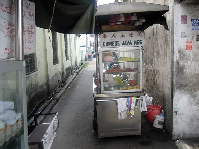 A Chinese Java Mee Stall in a Narrow Alley in Georgetown