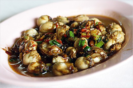 Stir-fried Oysters with Bean Paste (Taucheo)