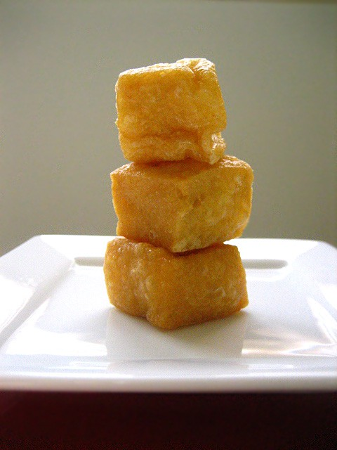 Fried Tofu Puffs / Tau Pok